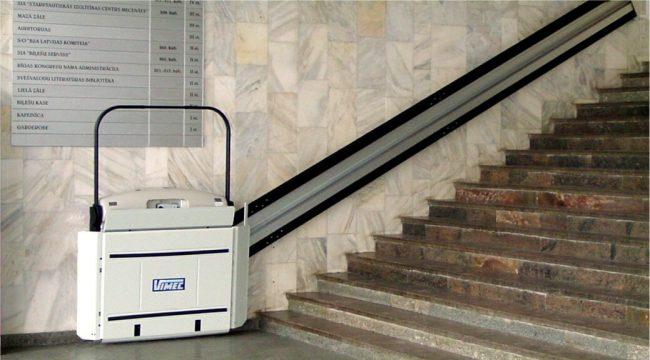 Vimec v64 inclined straight rail platform lift